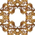 Acanthus plant leaves arranged in intricate square frame. Popular decorative motif in antiquity and baroque art. Tattoo