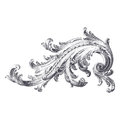 Acanthus scroll ancient engraving of design Stock Images