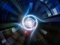 Acceleration of Space Emitter Royalty Free Stock Photo