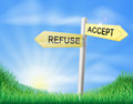 Accept or Refuse decision sign Royalty Free Stock Photo