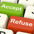 Accept And Refuse Keys Showing Acceptance Or Denial Royalty Free Stock Photo