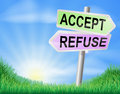 Accept or refuse sign concept Royalty Free Stock Photo