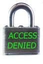 Acceso negado Imagenes de archivo