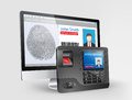 Access control fingerprint scanner system and mifare proximity reader Royalty Free Stock Photography