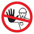 Access denied - construction worker Royalty Free Stock Photo