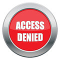 Access Denied Icon Royalty Free Stock Photo