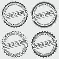 Access denied insignia stamp isolated on white. Royalty Free Stock Photo