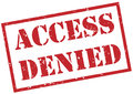 Access denied red stamp Royalty Free Stock Photo