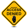 Access denied sign Royalty Free Stock Photo