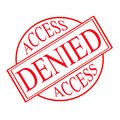 Access denied stamp with text inside illustration Royalty Free Stock Photos