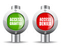 Access granted denied signs Royalty Free Stock Photo