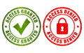 Access granted denied stamp Royalty Free Stock Photo