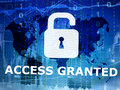 Access granted internet security concept Royalty Free Stock Image