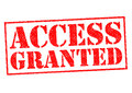 ACCESS GRANTED Royalty Free Stock Photo