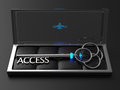Access key a silver with the word d render Royalty Free Stock Photography