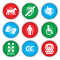 Accessibility icons Stock Photography