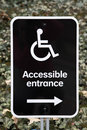 Accessible Entracne Sign Royalty Free Stock Photo