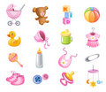 Accessories for baby girl. Royalty Free Stock Image