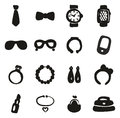 Accessories Icons Freehand Fill Royalty Free Stock Photo