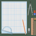 Accessories for mechanical drawing Royalty Free Stock Photo