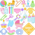 Accessories for Mom and Baby Stock Image