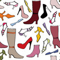 Accessories pattern. Fashion Boots and shoes background. Royalty Free Stock Photography