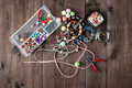 Accessory for making home craft art jewellery Royalty Free Stock Photo