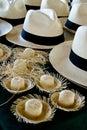 Accessory - Panama Hats Royalty Free Stock Photo