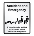 Accident and Emergency Information Sign