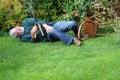 Accident, Garden Fallen Over. ...