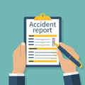 Accident report form Royalty Free Stock Photo