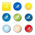 Accident web button Royalty Free Stock Photo