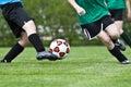 Acción del fútbol Fotografía de archivo libre de regalías