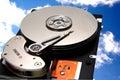 Accionamiento de disco en el cielo Imágenes de archivo libres de regalías