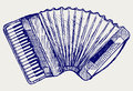 Accordion. Doodle style Royalty Free Stock Photography