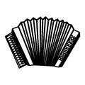 Accordion instrument musical icon