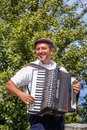 Accordion player Royalty Free Stock Photo