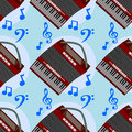 Accordion seamless background design a for graphic element use Stock Photos