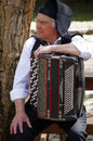 Accordionist of the rancho folclorico do vale de santarem a folkloric ranch from ribatejo region portugal Royalty Free Stock Photography