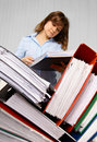 Accountant and business documents Stock Photo
