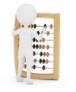 Accountant d man with abacus on white background Royalty Free Stock Photography