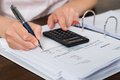 Accountant doing calculation Royalty Free Stock Photo