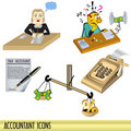 Accountant icons Royalty Free Stock Photo