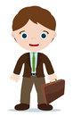 Accountant men with briefcase in the hand Royalty Free Stock Photo