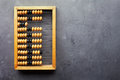 Accounting abacus on gray textured background with copy space Stock Photography