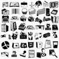 Accounting black icons collection of different vector Stock Photography