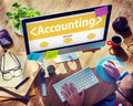 Accounting Budgeting Financial Service Ananlysing Concept Royalty Free Stock Photo