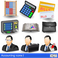 Accounting icons collection of colored Royalty Free Stock Images