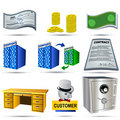 Accounting Icons Set 1 Royalty Free Stock Images