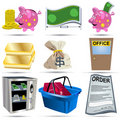 Accounting Icons Set 2 Royalty Free Stock Images